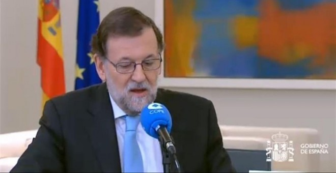 Mariano Rajoy en la entrevista de la Cope./ Europa Press