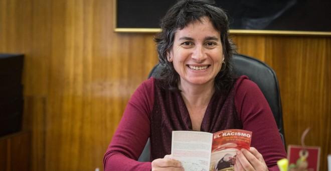 """La vicealcaldesa de Zaragoza, Luisa Broto, reclama """"un marco de convivencia que permita la igualdad de condiciones a la hora de relacionarnos"""" entre autóctonos y extranjeros."""