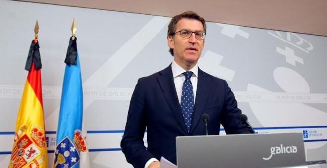 El presidente de la Xunta de Galicia, Alberto Núñez Feijóo. EFE/Xoan Rey