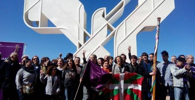 Celebración de Podemos del Aberri Eguna en Donostia. / Podemos.