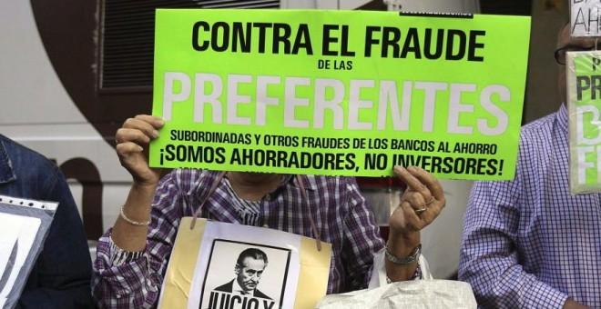 Manifestación por el fraude de las preferentes. EFE