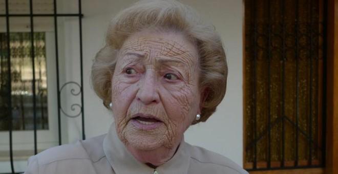 María Rosario Llin durante el rodaje del documental.