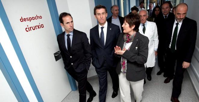 Feijoo durante una visita a un centro médico.- Xunta de Galicia