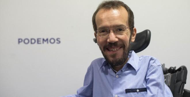 El secretario de Organización de Podemos, Pablo Echenique. EFE/ TONI GALÁN