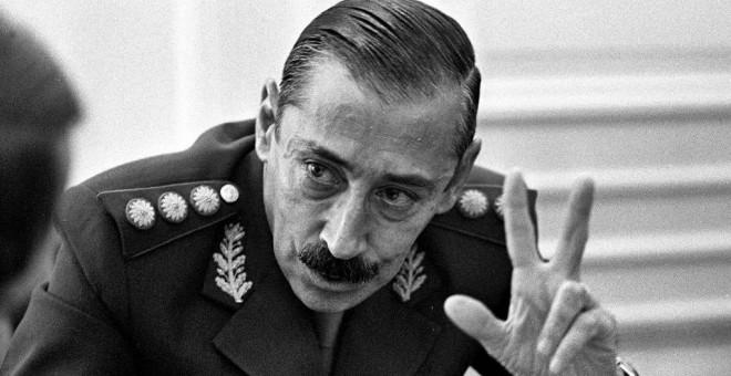 El dictador argentino Jorge Rafael Videla.