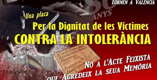 Cartel contra el acto fascista.