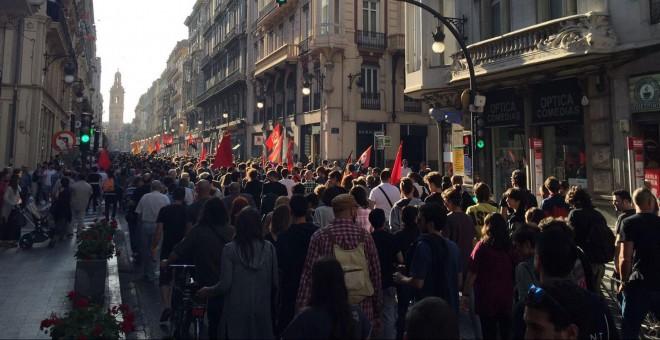 Manifestación antifascista en Valencia.- J. C