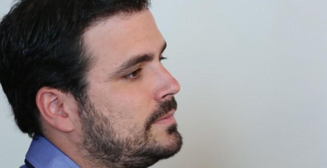 Alberto Garzón durante la entrevista.- PÚBLICO