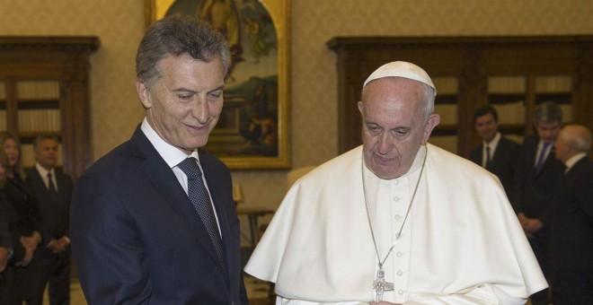El Papa Francisco con Mauricio Macri.