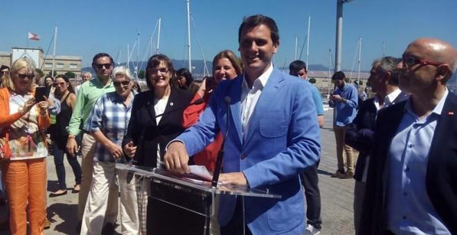 El líder de 'Ciudadanos', Albert Rivera, en Vigo.