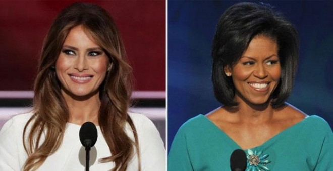 Melania Trump y Michelle Obama