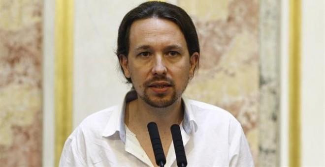 """Pablo Iglesias advierte a CDC que han apoyado en el Congreso a quien """"quiere encarcelar"""" a Homs"""