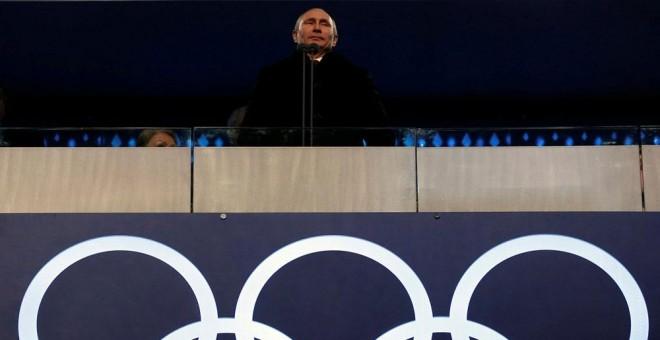 Putin, durante la apertura de los Juegos Olimpicos de invierno de Sochi en 2014. REUTERS