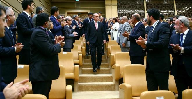 El presidente turco, Recep Tayyip Erdogan, a su llegada a un acto en Ankara. - REUTERS