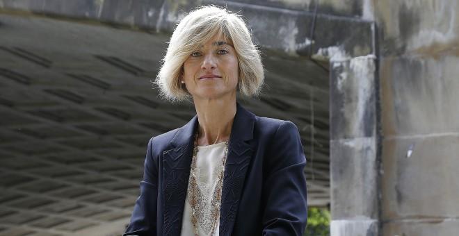 Pilar Zabala, la candidata de Podemos a lehendakari. EFE/Gorka Estrada.