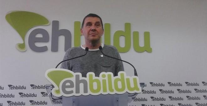 Otegi acatará no encabezar la lista de Bildu en las elecciones vascas si el Constitucional así lo decide. EUROPA PRESS