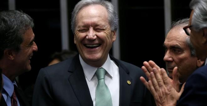 El presidente del Tribunal Supremo Federal de Brasil, Ricardo Lewandowski, antes del inicio de la sesión en el Senado.- REUTERS