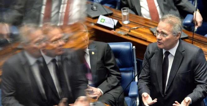 El presidente del Senado brasileño, Renán Calheiros, es uno de los que acumula más investigaciones. - EFE