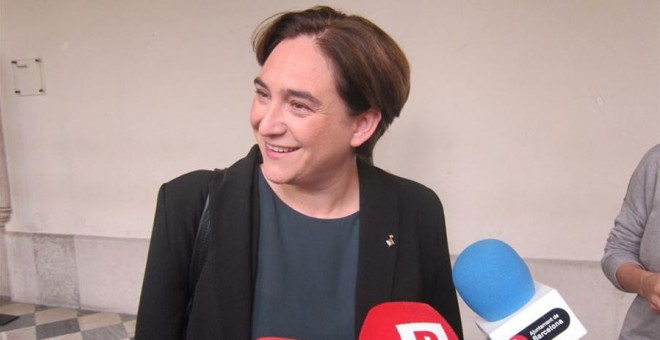 La alcaldesa de Barcelona, Ada Colau.- EP