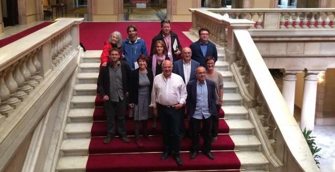 Los 11 diputados de Catalunya sí que es pot en el Parlament