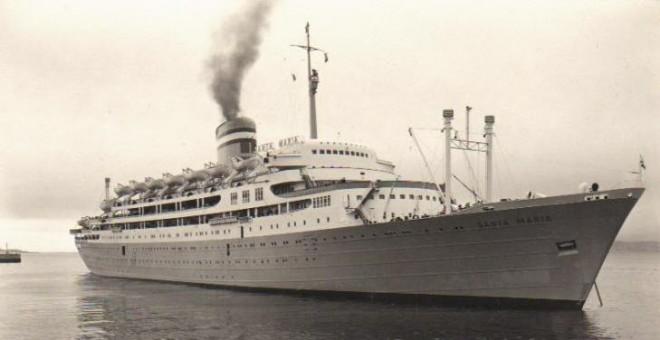 El paquebote Santa María tenía capacidad para 1.500 personas, entre pasajeros y tripulación.