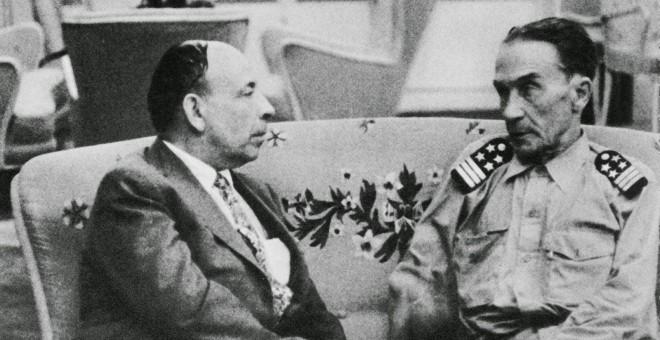 Los militares portugueses Humberto Delgado y Henrique Galvao. / ARCHIVO MÁRIO SOARES
