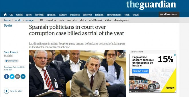 Spanish politicians in court over corruption case billed as trial of the year / The Guardian