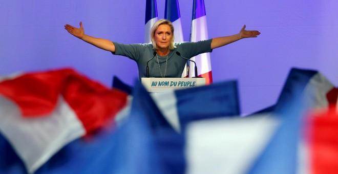 La ultraderechista francesa Marine Le Pen en una foto de archivo. Reuters.