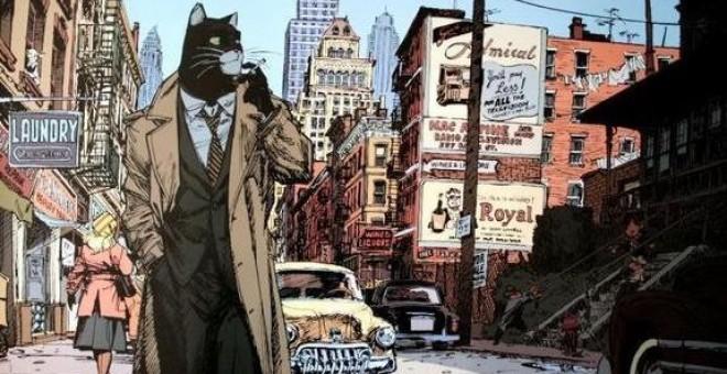 Dibujo del mítico cómic 'Blacksad', de Juan Díaz Canales y Juanjo Guarnido