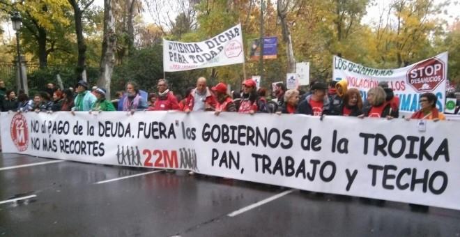 Imagen de la manifestación del 2014 de la Marcha de la Dignidad / EUROPA PRESS