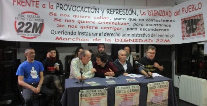 Imagen de la rueda de prensa de las Marchas de la Dignidad / Marchas de la Dignidad