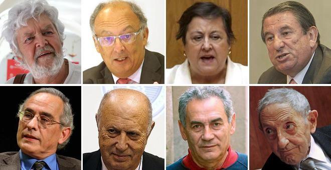 Beiras, González Laxe, García Negro, Francisco Vázquez, Xerardo Estévez, Méndez Ferrín, Camilo Nogueira y Díaz Pardo.