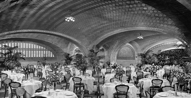 Oyster bar en la estación Grand Central en Nueva York. Archivo Collection at the Library of Congress.
