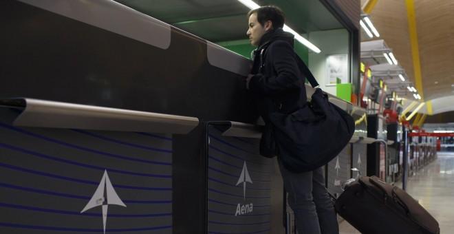Mostrador de Aena en el Aeropuerto Adolfo Suárez-Barajas. REUTERS