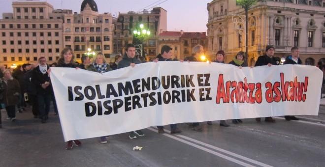 Manifestación en Bilbao por la privación en libertad de la abogada Arantza Zulueta. EUROPA PRESS