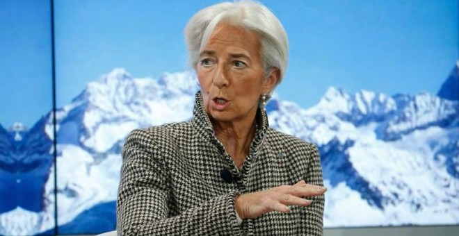 Christine Lagarde durante su intervención en Davos. | REUTERS (RUBEN SPRICH)