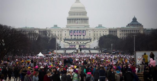 La `Women´s March' ha congregado a unas 500.000 personas en Washington / EFE