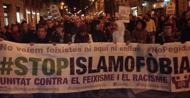 Protesta contra la islamofòbia. DAVID KARVALA
