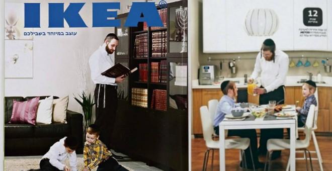 Ikea ignora a las mujeres y a las niñas en su catálogo para Israel.
