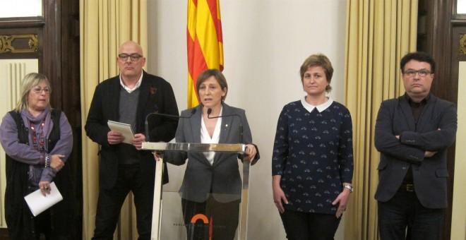 Carme Forcadell i membres de la Mesa del Parlament