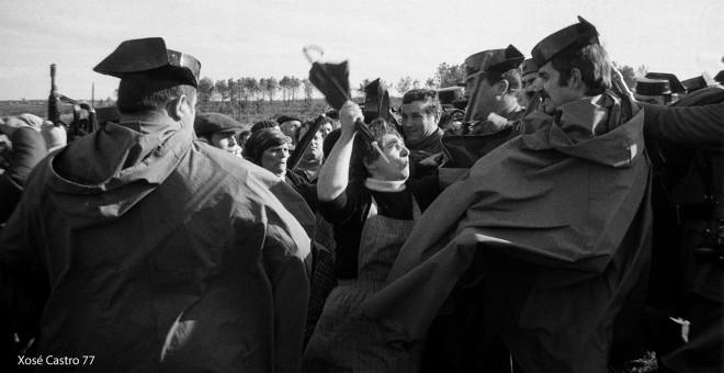 As Encrobas: cuando la guardia civil cargaba con mosquetón contra las mujeres gallegas