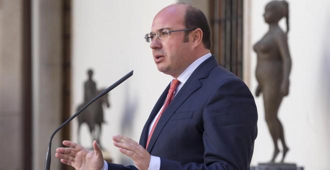 El presidente de la Comunidad de Murcia Pedro Antonio Sánchez. EFE/Marcial Guillén