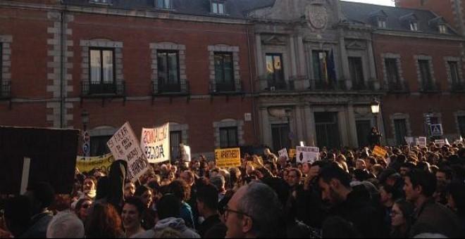 La Plaza de las Provincias en Madrid este domingo.PÚBLICO