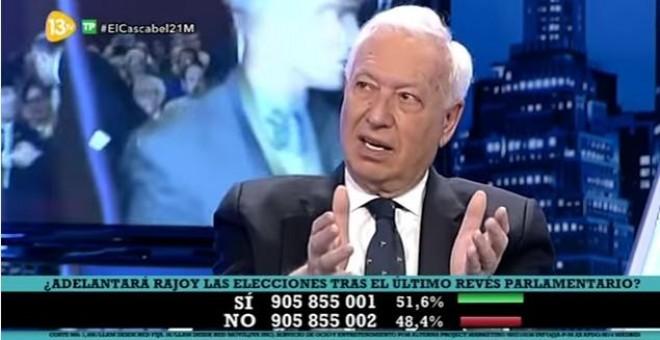 Imagen de Margallo en el programa de 13TV / YOUTUBE