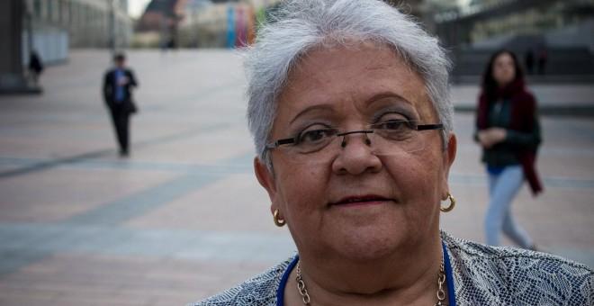 Imelda Daza, en el Parlamento Europeo de Bruselas.- JAIRO VARGAS