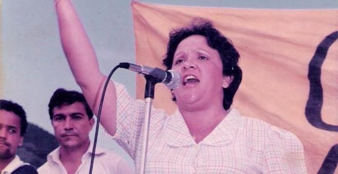 Imelda Daza antes de su exilio, en una imagen de los años 80.