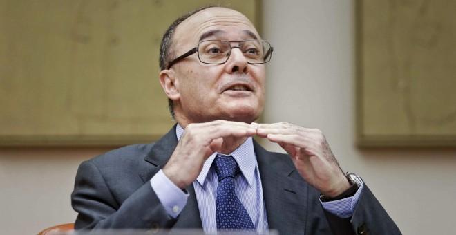 El gobernador del Banco de españa, Luis María Linde, en una comparecencia parlamentaria. EFE