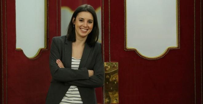 La portavoz parlamentaria de Podemos, Irene Montero. E.P.
