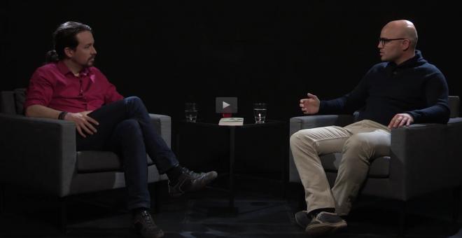 Pablo Iglesias entrevista en 'Otra Vuelta de Tuerka' al sociólogo Rubén Juste en 'Público TV'
