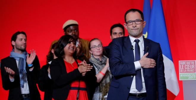 Benoît Hamon, líder de los socialistas franceses tras la derrota en la primera vuelta de las elecciones electorales en Francia / REUTERS